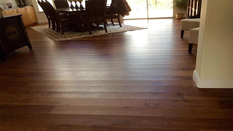 Wood floors with cupping issues.