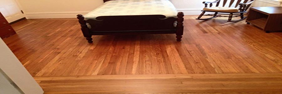 photo of a recently refinished bedroom floor